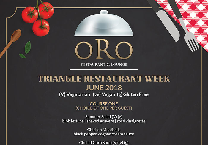 ORO – Triangle Restaurant Week