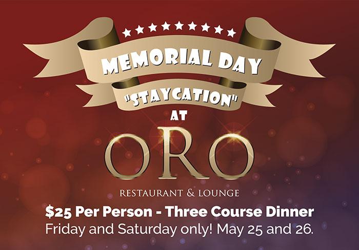 ORO – Memorial Day