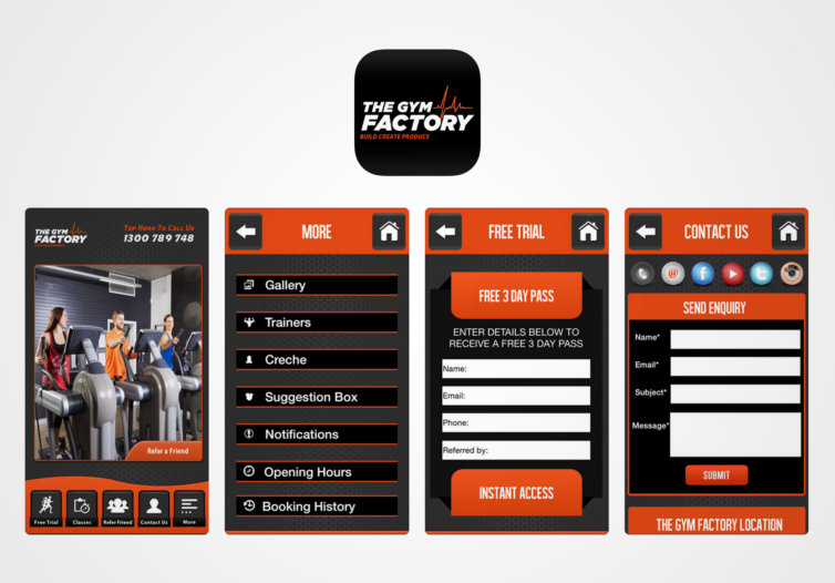The Gym Factory Mobile App